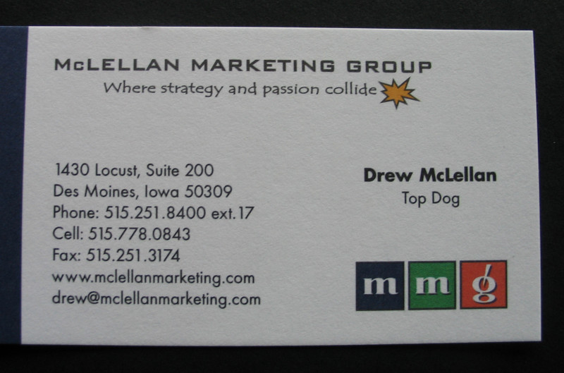 Marketing tips from a marketing agency make the invisible visible but by being the top dog suddenly were visible when was the last time someone looked at your business card and make a comment colourmoves