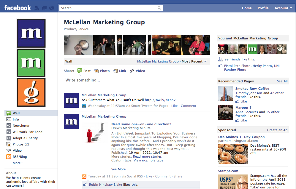 5 ways to build a sticky Facebook fan page - McLellan