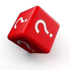 bigstock Question mark symbol dice roll 18529607