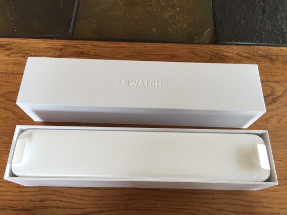 This is the packaging for the Apple Watch.